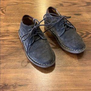Little boys grey suede shoes